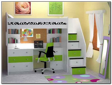 Bunk Bed With Desk Underneath Bed Design Loft Bed With Desk Underneath Play Area Bunk Corner Storage Shelves