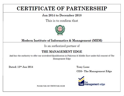 the management edge group australia the miim islamabad
