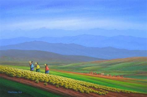 imagenes de paisajes andinos paisaje andino oscar tintaya artelista com
