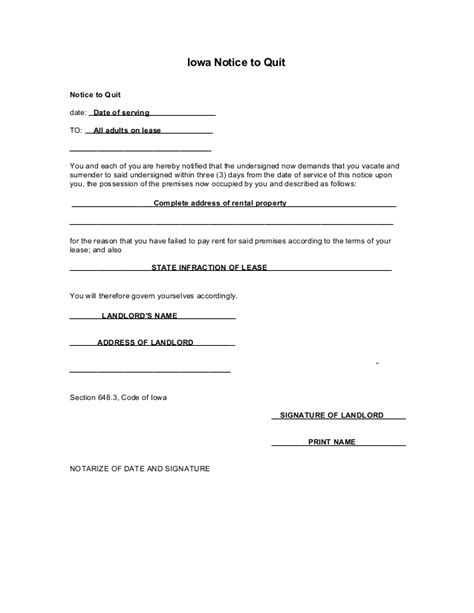 sle eviction notice newfoundland breach of lease letter blank 14 day eviction notice form