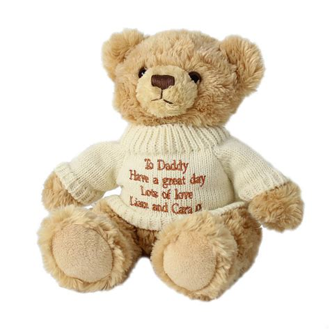 personalised teddy bears and gift bag by british and