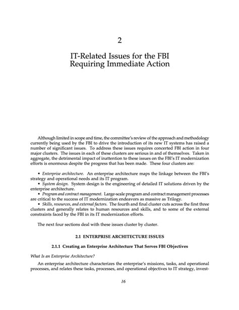 What Does An Immediate Review Of A Textbook Section Involve by 2 It Related Issues For The Fbi Requiring Immediate