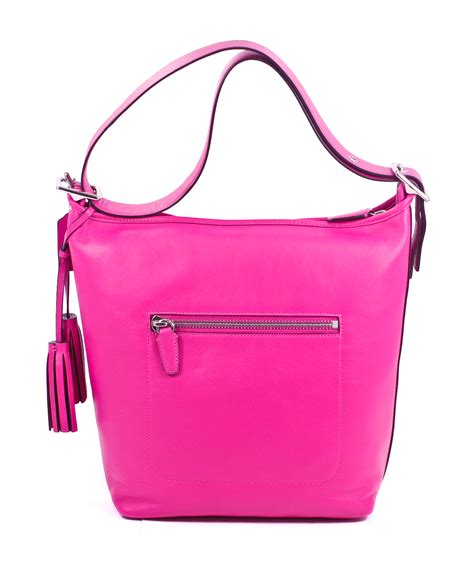 Coach Bag Pink by Coach Legacy Leather Fuchsia Pink Duffle Shoulder Bag Tote Purse New Ebay