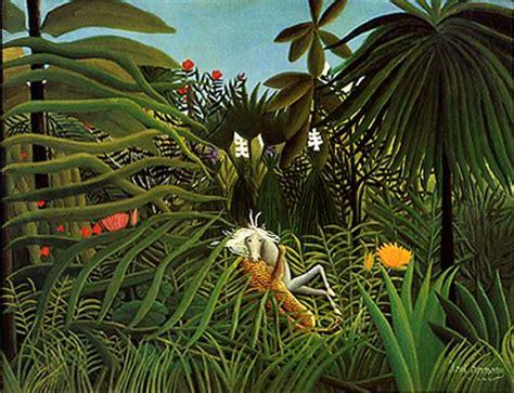 jungle painting artists henri rousseau s jungle paintings