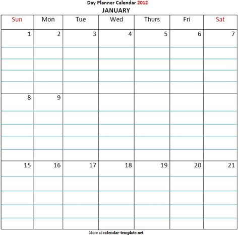 day to day calendar template search results for student day planner template page 2