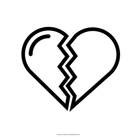 imagenes de corazones rotos para colorear corazon roto coloring page coloring pages