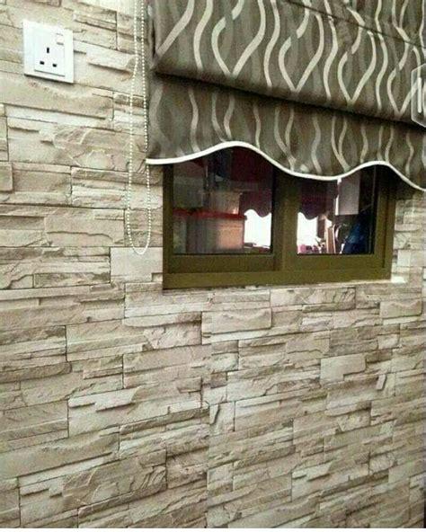 Wallpaper Sticker Dinding Batu Alam Cadas Coklat Krem jual wallpaper sticker 10m batu alam coklat ike rz wall sticker