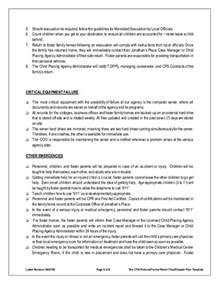 daycare emergency preparedness plan template disaster emergency plan template for families