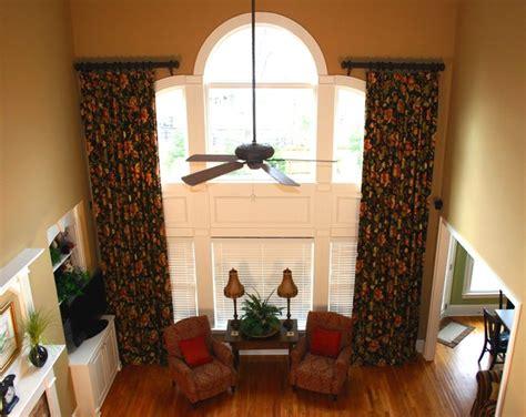 two story family room window treatments custom window treatments two story traditional