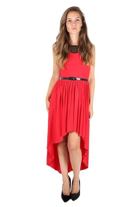 Tc49 Midi Keyhole Maxi Dress womens lace mesh insert belt keyhole back hi lo dip hem maxi midi dress