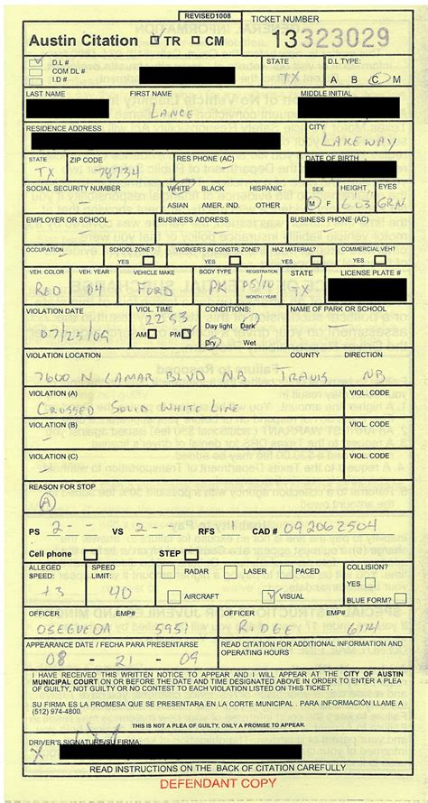 police ticket template printable pictures to pin on