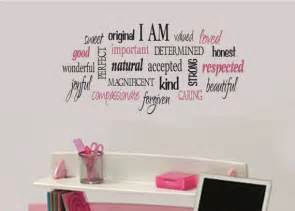 Tween Bedroom Ideas For Girls i am positive word collage for girls teen girl by
