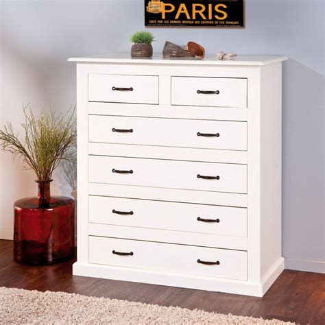 Commode 6 Tiroirs Blanc by Commode 6 Tiroirs Quot Chlo 233 Quot Blanc