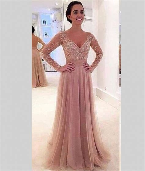 sparkly lace sleeve prom dresses 2016 backless floor