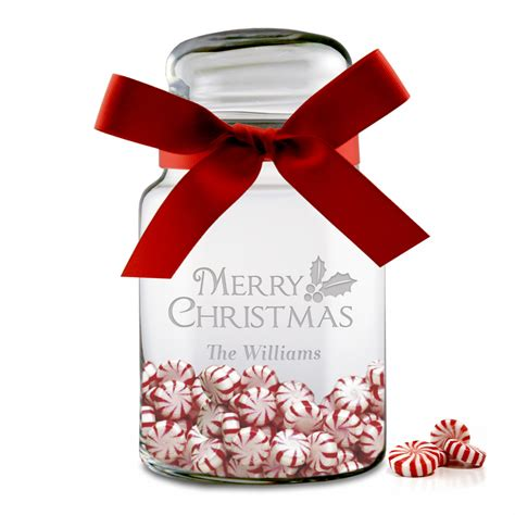 personalized christmas gifts personalized christmas candy glass jar