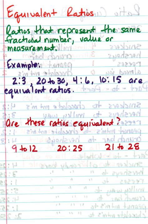 Equivalent Ratios Worksheet Answers