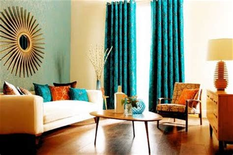 Blue Living Room Orange Accents Won T You Be My Nabor Beautiful Color Combo Blue Orange