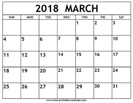 printable calendar q1 2018 march 2018 calendar free download printables redefined