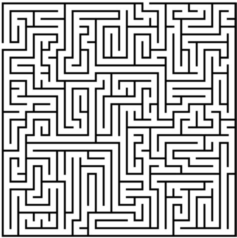 a4 printable maze difficult mazes coloring pages