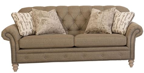 Traditional Button Tufted Sofa With Nailhead Trim By Smith Traditional Tufted Sofa