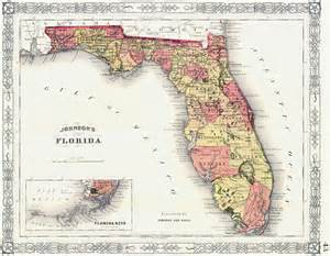 Old Florida Maps by Detailed Old Administrative Map Of Florida State Vidiani
