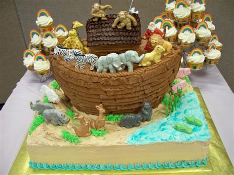 Noah S Ark Baby Shower Decorations by You To See Noah S Ark Baby Shower Cake For By