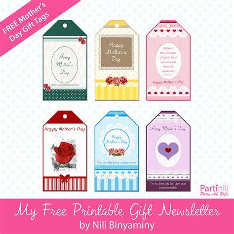 free printable gift tags mothers day printable gift tags