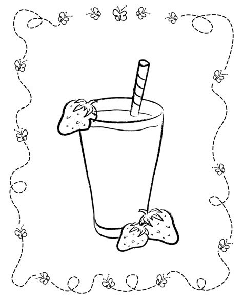 shake it up coloring pages games food coloring pages for kids strawberry milkshake