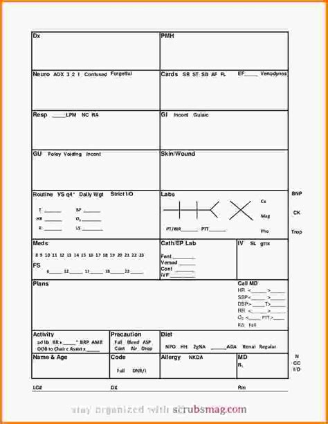 nursing report sheet template nursing report template nursing report sheet template med