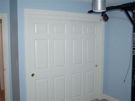 Pine Sliding Closet Doors Bedroom White Pine Wood Sliding Closet Doors Combined Light Blue Painted Wall As Well As New