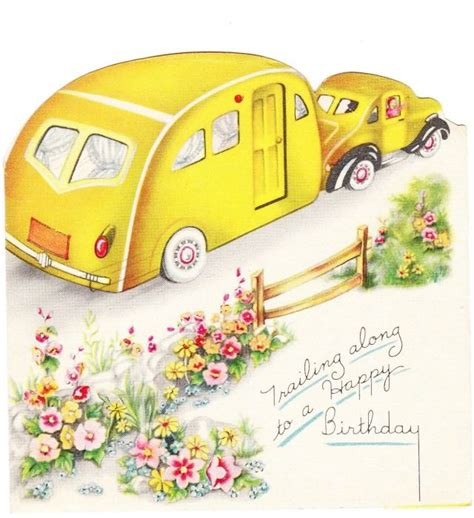 Motorhome Birthday Cards The Paper Collector Cing Pinterest