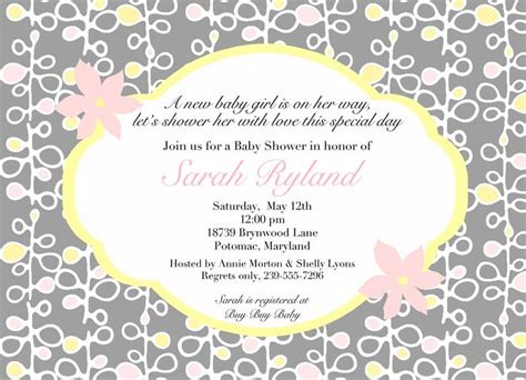Co Ed Baby Shower Wording by Coed Baby Shower Invitation Wording Pink And Yellowa Baby Shower Or Bridal Shower By
