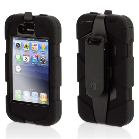 griffin survivor noir apple iphone etui telephone griffin technology  sur ldlccom
