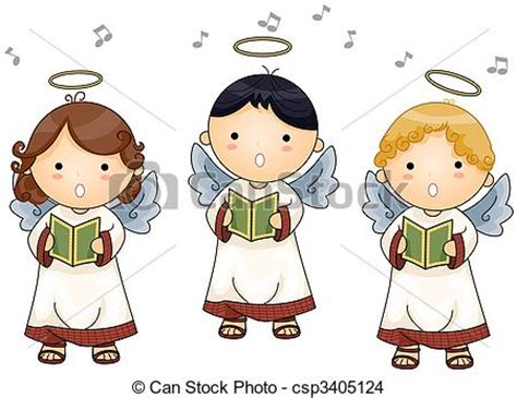 clipart angeli disegno di angeli cantocsp3405124 cerca illustrazioni