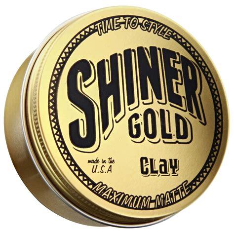 Shiner Gold Maximum Matte Clay shiner gold clay maximum matte fixation forte et effet matte
