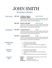 resume templates traditional 2