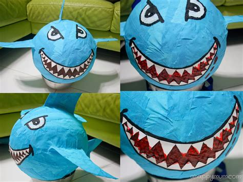 How To Make A Paper Mache Shark - a happy singapore parenting