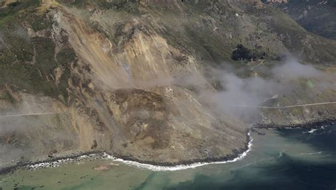 Landslide Pch - massive landslide adds to unprecedented damage along scenic highway 1 in big sur