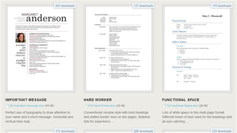 Free Windows Resume Templates by 275 Free Resume Templates For Microsoft Word