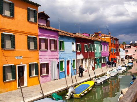 colorfu houses painting colorful burano houses venice italy jigsaw puzzle in