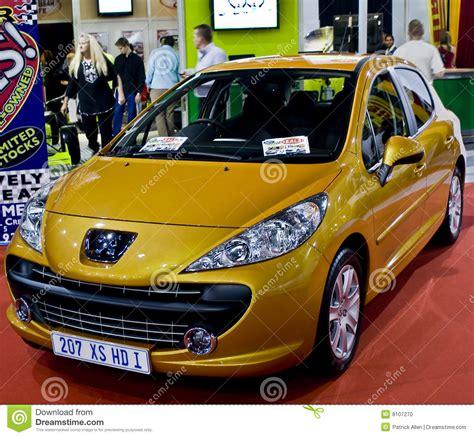peugeot yellow yellow peugeot 207 xs 1 6 hdi editorial image image of 5