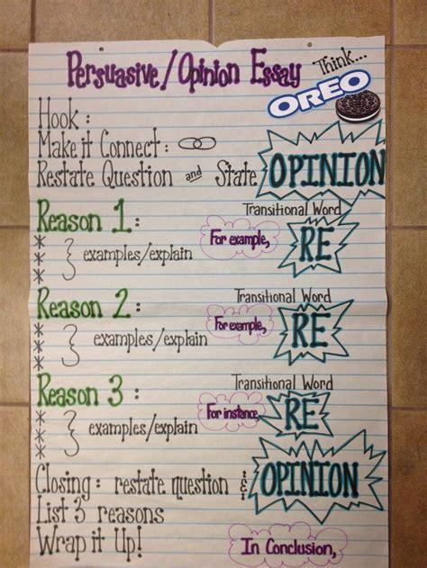 opinion essay sles persuasive essay anchor chart grade 5 oreo i a