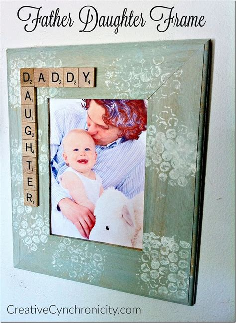 diy gift for dad father daughter frame creative