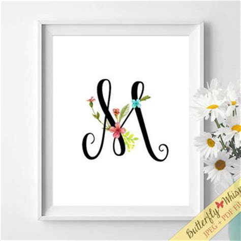 printable nursery letters printable flower baby initials nursery from