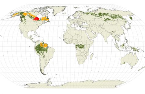 maps globe specialist distributor conservation value of the american boreal forest
