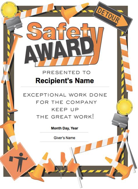 safety award certificate template school safety certificates pictures to pin on