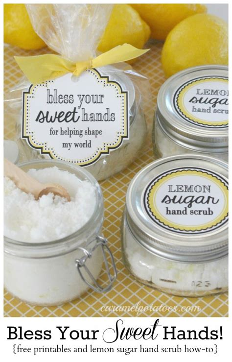 printable lemon recipes lemon sugar scrub bless your sweet hands lemon sugar hand