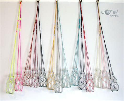 Chompa Handmade - macrame fishing net flower plant hanger vintage inspired