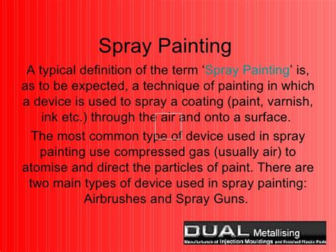 spray paint definition spray painting