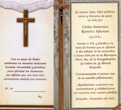 recordatorios de misa de honras oraciones de difuntos para misa imagui